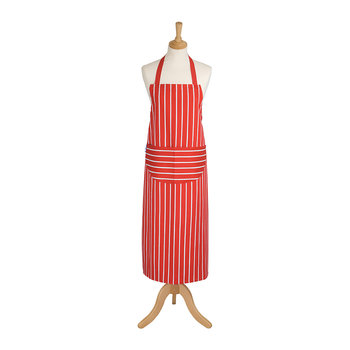 Butchers Stripe Apron - Red