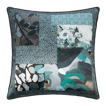 Faraqa Silk Cushion - 60x60cm - Aqua