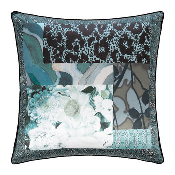 Faraqa Silk Cushion - 40x40cm - Aqua