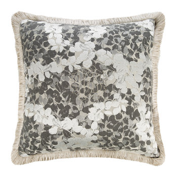 Canopy Jacquard Pillow - Gray - Blue