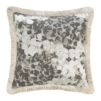 Canopy Jacquard Pillow - Gray - Gray