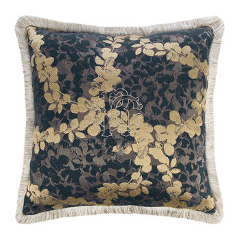 Canopy Jacquard Pillow - Blue - Blue