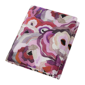Caleidoflora Silk Throw - 130x180cm - Rose