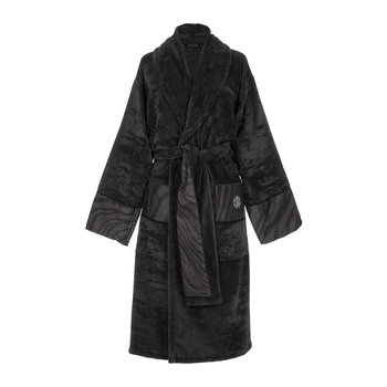 Macro Zebrage Bathrobe - Dark Gray