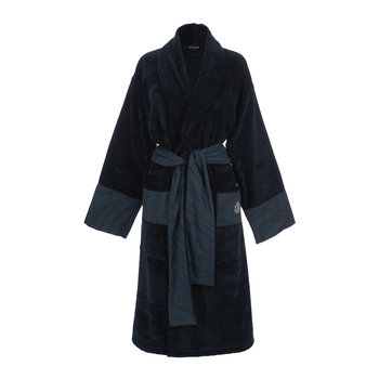 Macro Zebrage Bathrobe - Blue