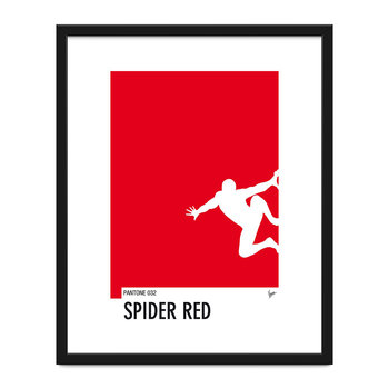 My Superhero Spiderman Minimal Print - 40x50cm