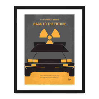 My Back To The Future Minimal Movie Print - 40x50cm