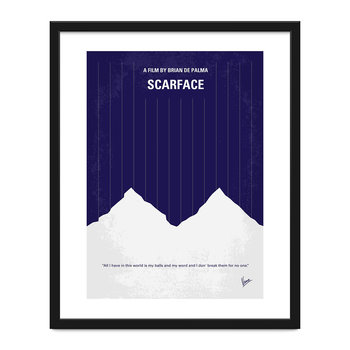 My Scarface Minimal Movie Print - 40x50cm