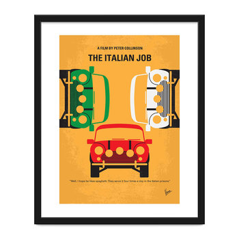 The Italian Job Minimal Movie Print - 40x50cm