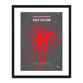 Mon affiche de film minimaliste Pulp Fiction - 40x50cm