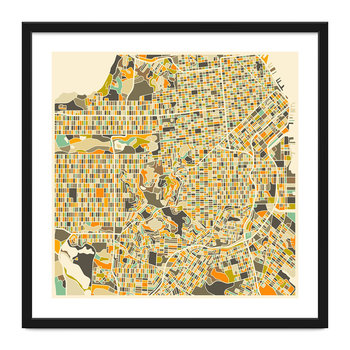 San Francisco Map Print - 40x40cm
