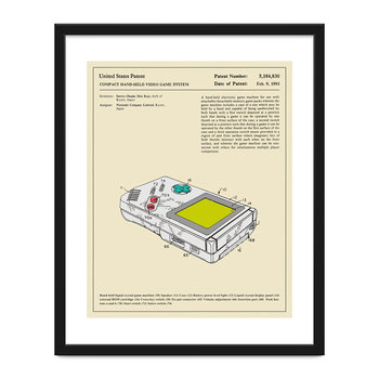 Compact Video Game Patent Print - 40x50cm