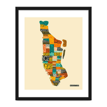 Manhattan Neighborhoods Print - 40x50cm