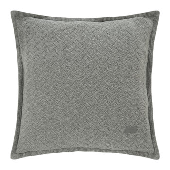 Fishbone Knit Pillow - 50x50cm - 43 Sky Gray