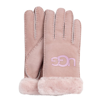 Women's Sheepskin Logo Glove - Pink Crystal