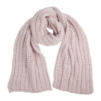 Women's Chunky Knit Scarf - Pink Crystal