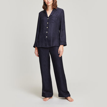 Hera Jacquard Silk Pyjama Set - Large