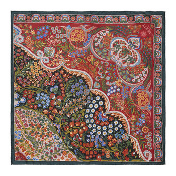 Tanjore Gardens Scarf - 45x45cm - Pink