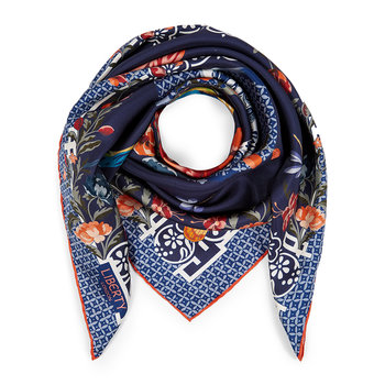 Patience Scarf - 90x90cm - Navy