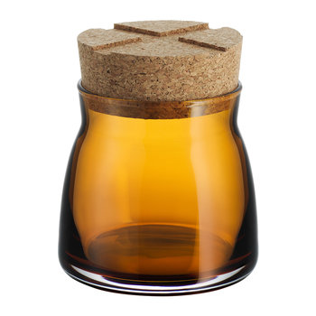 Bruk Clear Jar with Cork Lid - Amber - Small