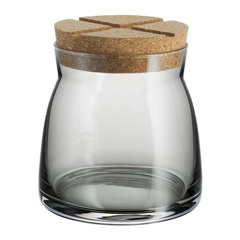 Bruk Clear Jar with Cork Lid - Gray