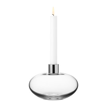 Pluto Glass Candle Holder - Clear