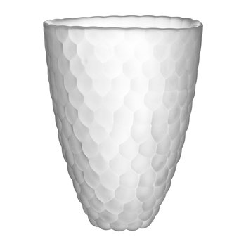 Raspberry Glass Vase - Frosted