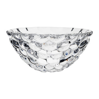Raspberry Glass Bowl - Clear