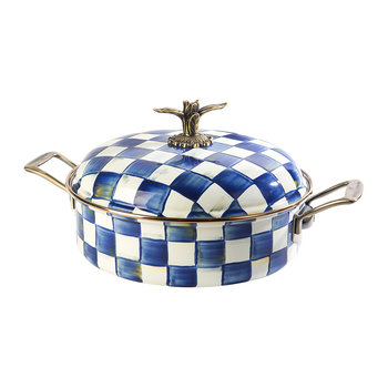 Royal Check Casserole Dish