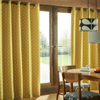 Woven Acorn Cup Eyelet Curtains - Dandelion