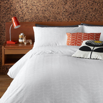 Ditsy Early Bird Duvet Cover - White