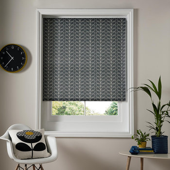 Linear Stem Roller Blinds - Cool Gray