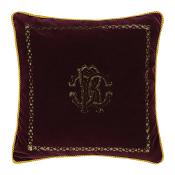 Venezia Reversible Cushion - 40x40cm - Burgandy
