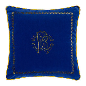Venezia Reversible Pillow - 40x40cm - Emerald Blue