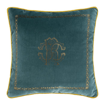 Venezia Reversible Cushion - 40x40cm - Teal