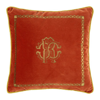 Venezia Reversible Cushion - 40x40cm - Burnt Orange
