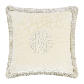 Monogram Cushion - Ivory - 40x40cm