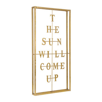 The Sun Will Come Up Artwork - Gold