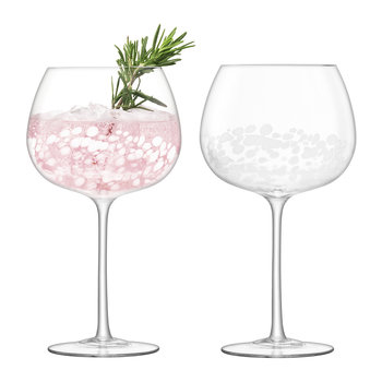 Stipple Balloon Goblet - Set of 2