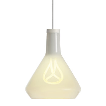 Drop Top Shade and 001 LED Bulb - White