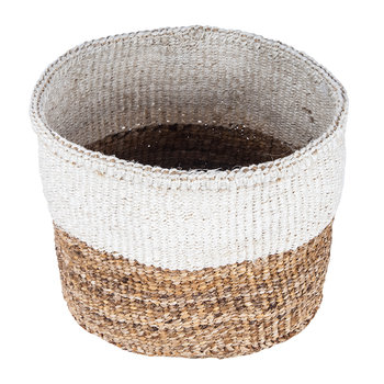 Ndizi Banana Fibre and Sisal Basket - Natural