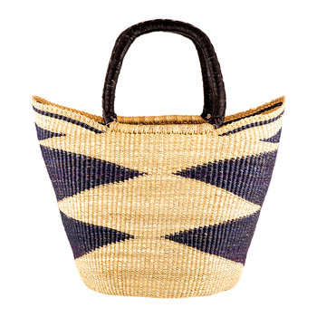 Kusi Hand Woven Shopping Basket - Black