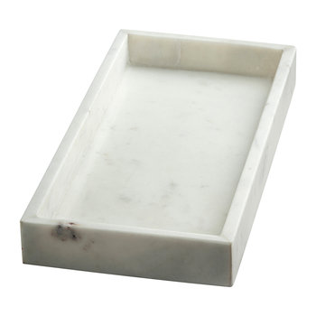 Marble Rectangle Tray - White