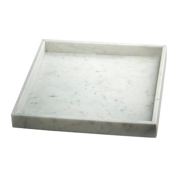 Marble Square Tray - White