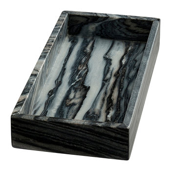 Marblelous Rectangle Tray - Grey