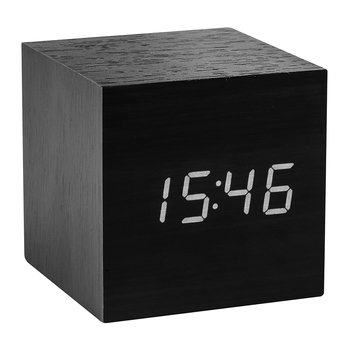 Cube Click Clock - Black / White LED