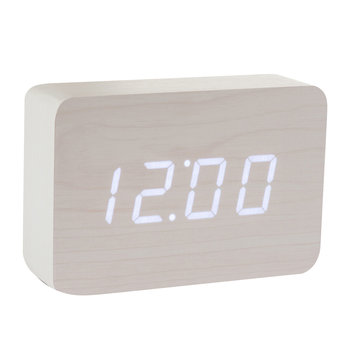 Brick Click Clock - White / White LED