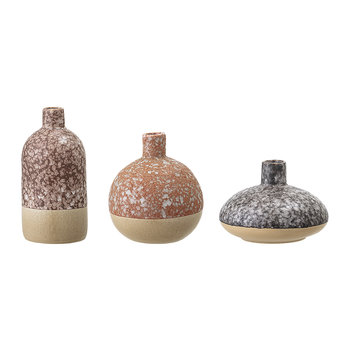 Ensemble de Vases en Grès - Lot de 3 - Orange