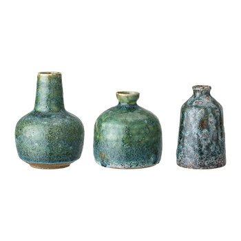 Stoneware Vase Set - Set of 3 - Green