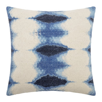 Tie Dye Effect Cushion - Blue/White